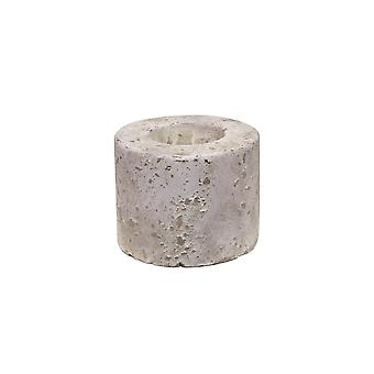 Light & Living Tealight Round 9x4.5cm - Lakor Grey Antique