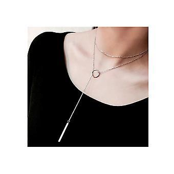 Silber Lasso Multi-Layer Halskette für alle Gelegenheiten