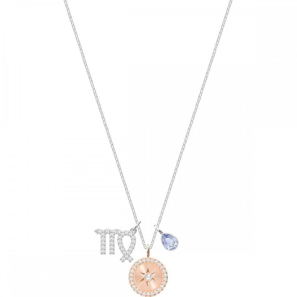 Swarovski Zodiac Rose Gold Tone Plated With Violet Crystal Virgo Pendant 5349224
