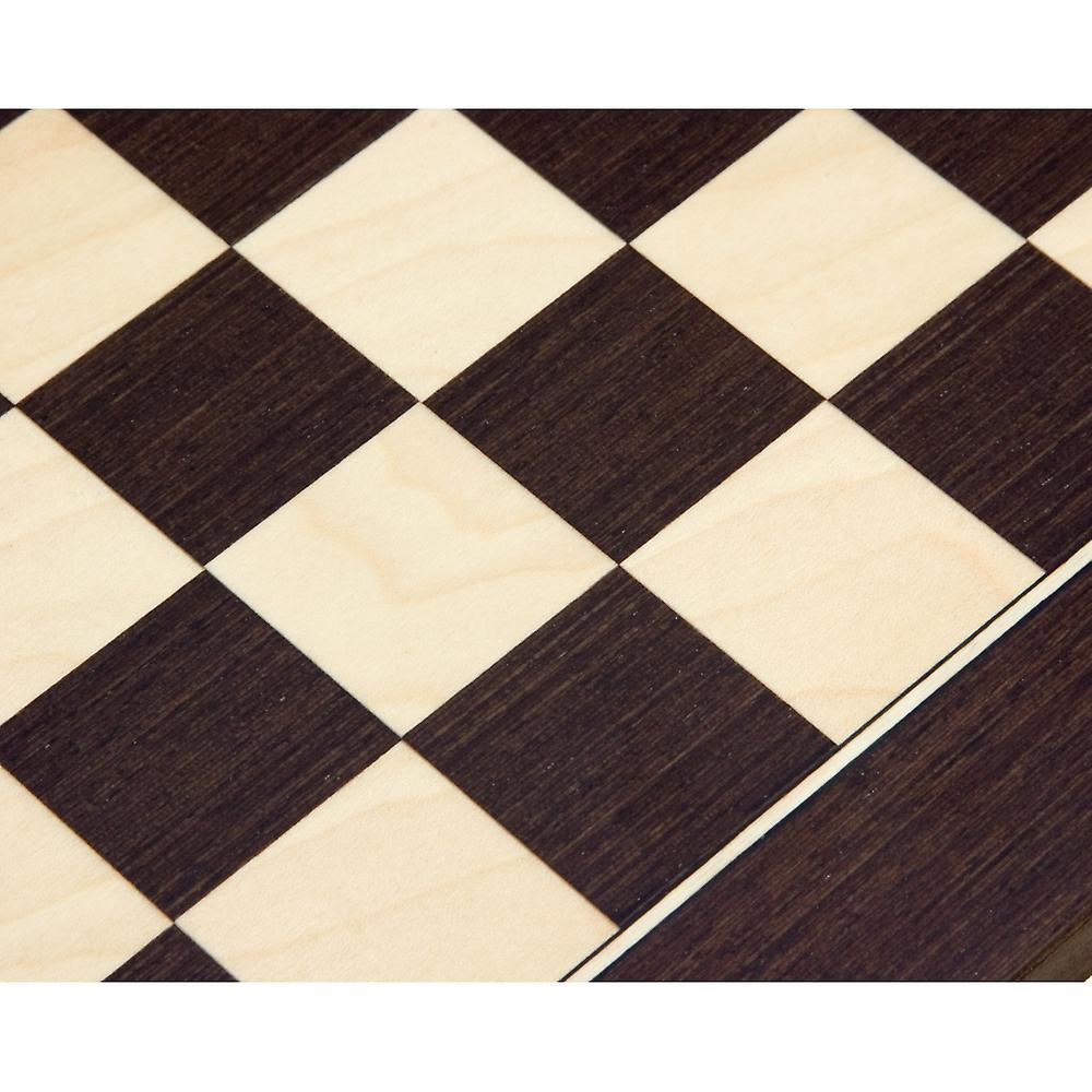 13.75 Inch Wenge and Maple Deluxe Chess Board