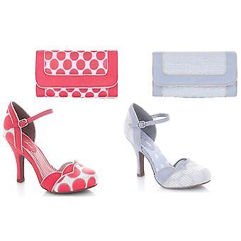 Ruby Shoo Women's Phoebe Bar Shoes & Matching Charleston Bag