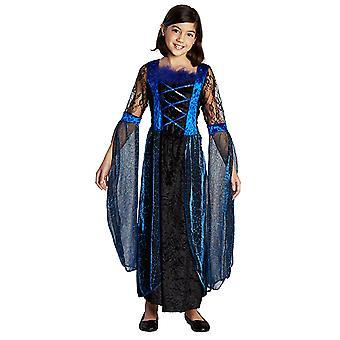 Midnight Princess Schwarze Prinzessin Kleid Kostüm für Kinder