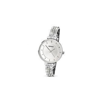 Seksy Ladies 2446 Stainless Steel Swarovski Crystals Bracelet Watch
