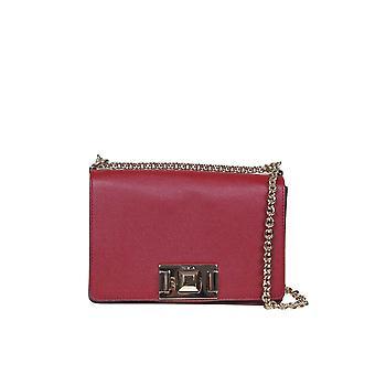 Furla 1026446 Women's Red Leather Shoulder Bag