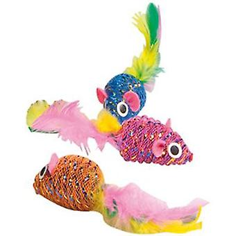 Flamingo Ratoncito Mouse Feather con Catnip (Cats , Toys , Mice)