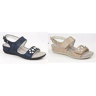 Boulevard Womens/Ladies Twin Touch Fastening Sandals
