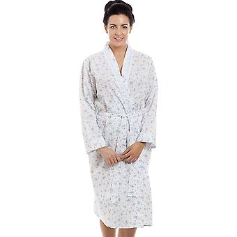 Camille Blue Floral Print Lightweight Dressing Gown