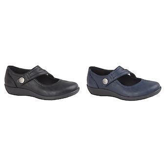 Boulevard Womens/Ladies X Wide EE Fit Touch Sabitleme Bar Ayakkabısı