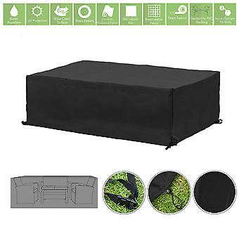 Black Garden Sofa Set Waterdichte Patio Meubelen Cover Rain Dust Protector