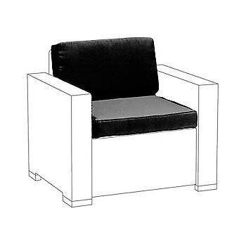 Black 2pc Seat Cushions Set für Keter Allibert California Sessel