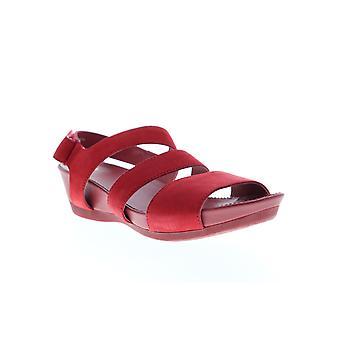 Camper Micro Dames Rood Nubuck Leren Slingback Sandals Schoenen