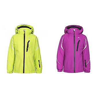 Trespass Girls Jala Waterproof Hooded Touch Fastening Ski Jacket