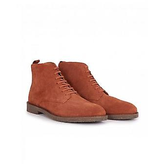 H By Hudson Leather Tanker Boots