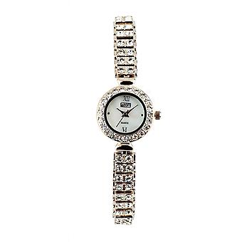 Eton Stone Set Bracelet Evening Wear Watch, Real Mop Dial, Round Case - 3071L