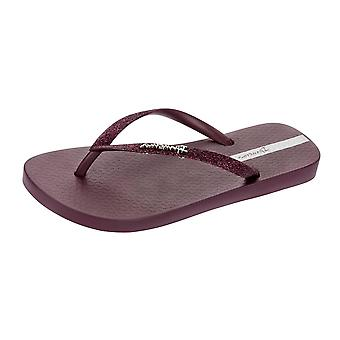 Ipanema skrzyć damskie klapki / sandały - bordo