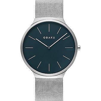 Obaku Ark Cyan Blue Dial Wristwatch V240GXCLMC
