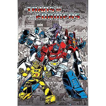 Transformatoren G1 Retro Comics Maxi Poster