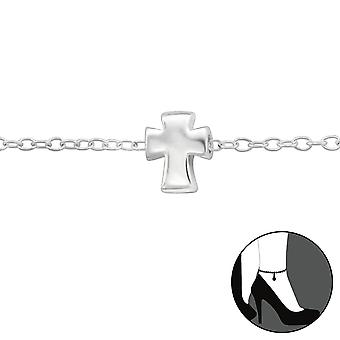 Cross - 925 Sterling Silver Anklets - W29974x
