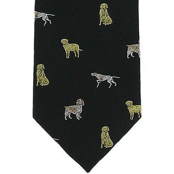 Michelsons af London hunde silke slips - sort