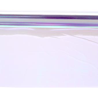Rouleau de cellophane iridescent de 50 cm - 2,5 m pour l'artisanat et l'emballage cadeau