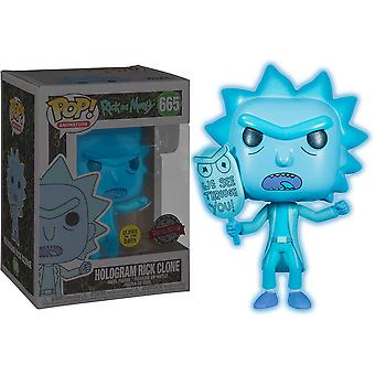 Rick & Morty Hologram Rick See You Glow US Excl Pop! Vinyl