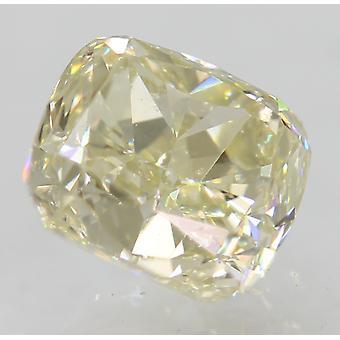 認定 0.77 カラット I カラー VVS1 クッション ナチュラルルーズ ダイヤモンド 5.17x4.75mm