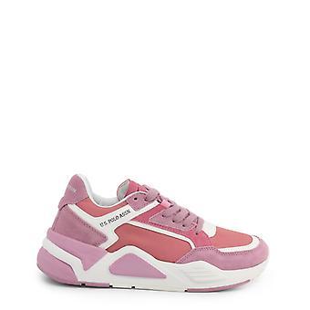 De leren sneakersschoenen ua27159 van de vrouw