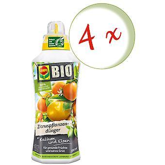 Sparset: 4 x COMPO BIO Zitruspflanzendünger, 500 ml