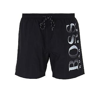 Shorts de baño negro jefe pulpo
