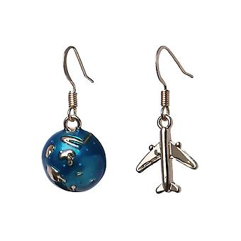 World Traveller Copper and Tin Alloy Drop Earrings