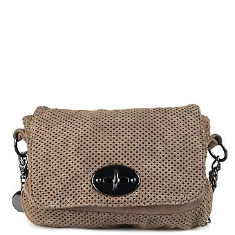 Ash Footwear Camy Taupe Suede Crossbody Bag
