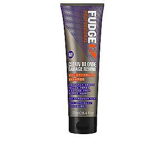 Fudge Professionelle saubere Blonde Damage Rewind Violet-Toning Shampoo 250 Ml Unisex