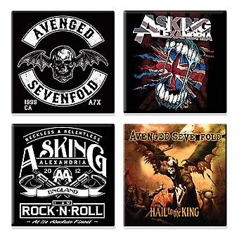 Asking Alexandria 4 x Fridge Magnet death bat logo various designs new Gift set