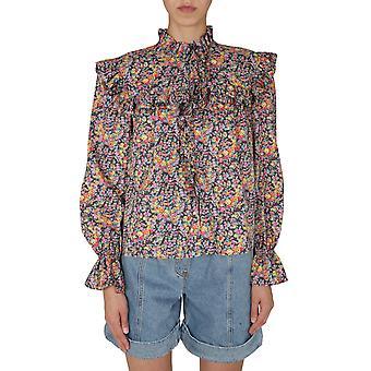Filosofia Por Lorenzo Serafini 023157481509 Women's Multicolor Cotton Blouse