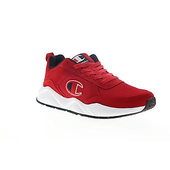 Champion 93 Eighteen Classic  Mens Red Mesh Low Top Sneakers Shoes