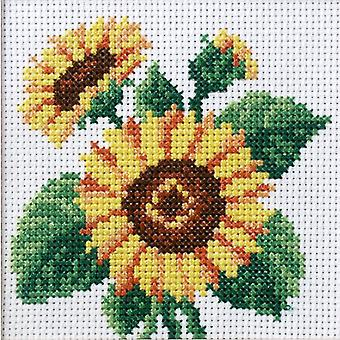 Orchidea Stamped Cross Stitch Kit - Sunflowers