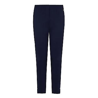 PENNY PLAIN French Navy Cropped Bengaline Trousers