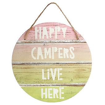 Something Different Happy Camper Hanging Sign