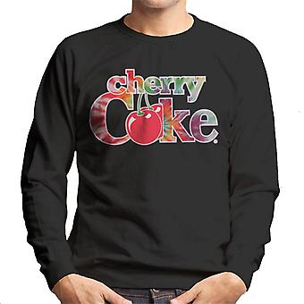 Coca Cola Cherry Coke Tie Dye Text Men's Sudadera