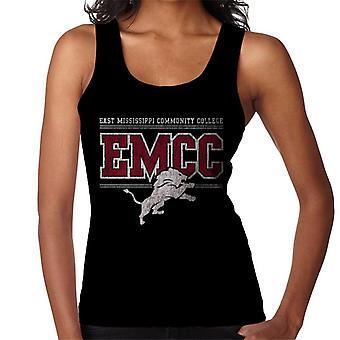 East Mississippi Community College Light Distressed Lion Logo Women's Vest