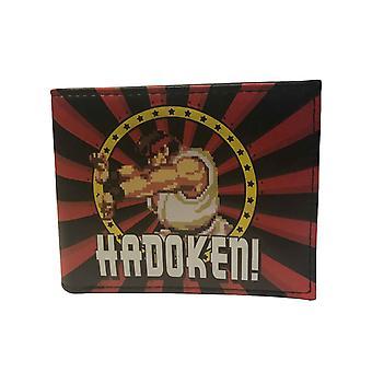 Portefeuille de Street Fighter Hadoken Logo nouveau officiel rétro Gamer noir pliante