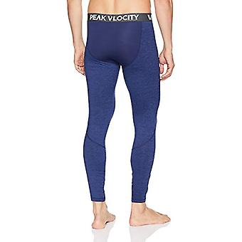Peak Velocity Men's Thermal Cold-weather Athletic-Fit Tight, Alpine Blue Heat...