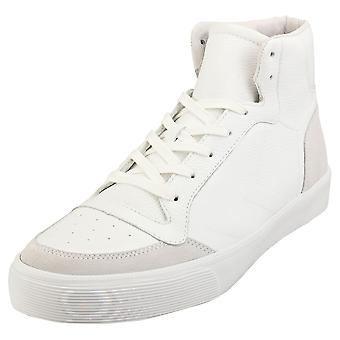 hummel Stadil Rmx High Sneaker Mens Casual Trainers in White