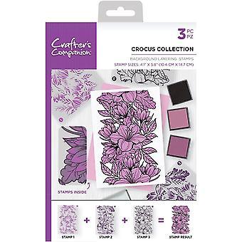Crafter's Companion Crocus Collection - Sellos de capas de fondo A6