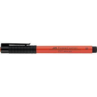 Faber Castell Intialainen mustetaiteilija Kynä sivellin 118 Scarlet Punainen