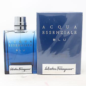 Acqua Essenziale Ble Pour Homme by Salvatore Ferragamo Eau De Toilette 3.4oz New