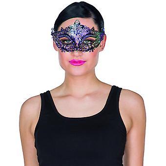 Maske Rainbow Shimmer Ladymaske Augenmaske Glitzer Karneval Venezia Edeldame Accessoire