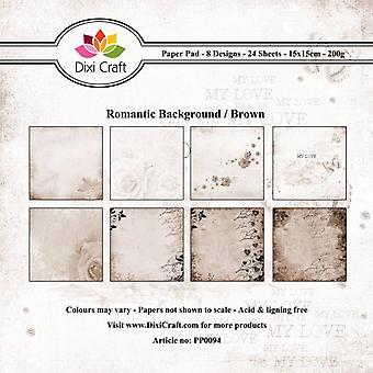Dixi Craft Romantic Background - Brown 15x15cm Paper Pad