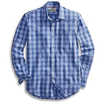 Goodthreads Men's Standard-Fit Long-Sleeve Gingham, Blue/Blue, Size X-Large