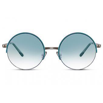 نظارات شمسية السيدات حول القط كامل الحواف. 3 ذهبي/ أزرق